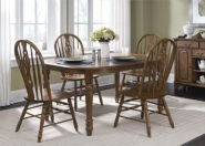 Old World 5pc. Oak Dining Set