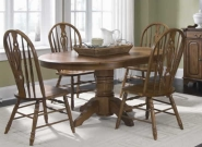 Old World 5pc. Pedestal Dining Set